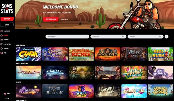 Sons of Slots Casino Review