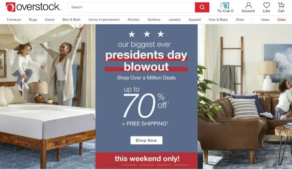 Overstock | Top President's Day Sales | OPAS