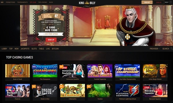 King Billy Casino Online & Mobile - free play games