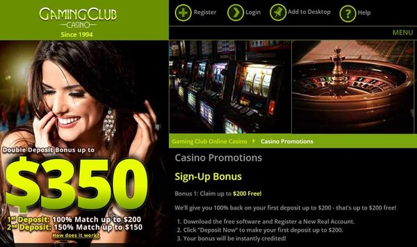 Gaming Club Casino Review & Exclusive Welcome Bonus (30 free spins + $350 free money)