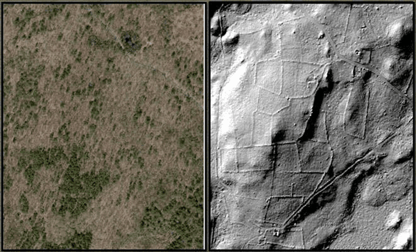LiDAR reveals the underlying history of a landscape. Image from Kate Johnson.