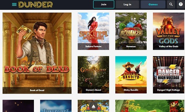 Dunder Casino Online & Mobile Review