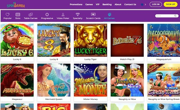 Spin Samba Casino Review 200 free spins and $1000 welcome bonus