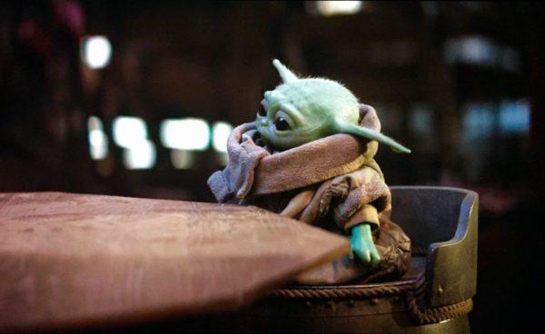 Baby Yoda in a High Chair