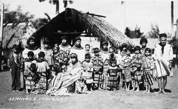 Native Americans in Florida: Seminole Indians in 1920. Photo: Florida Memory Project