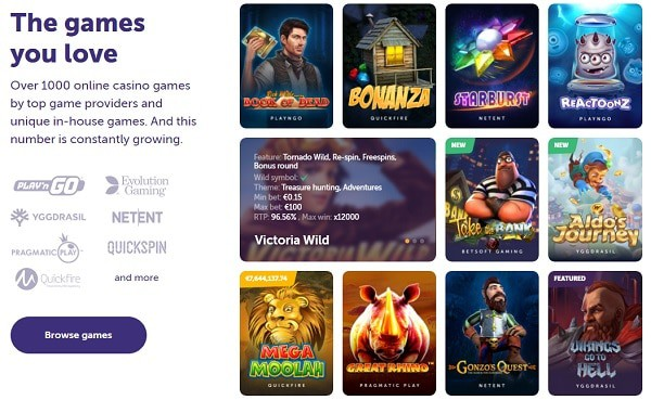 Over 1500 games to choose from