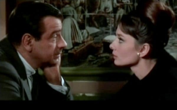 Is audrey hepburn right to trust walter matthau? Everyone is a suspect in charade.