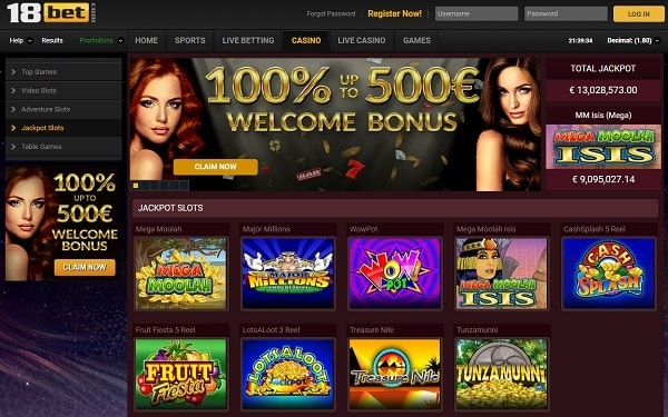 18bet casino 20 free spins bonus