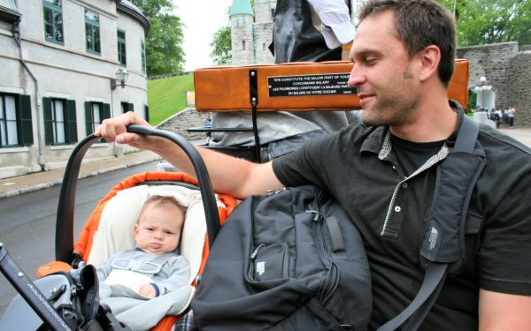 Traveling with a Newborn - Horse Buggy Ride in Quebec City