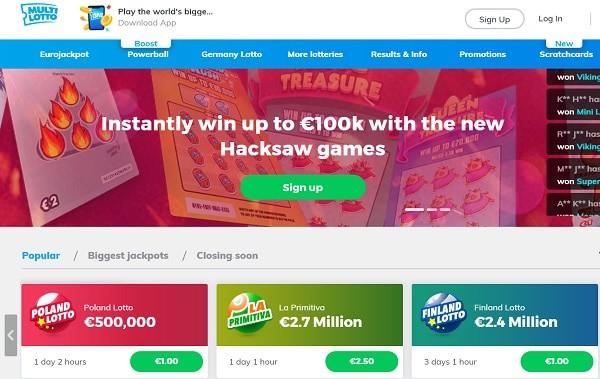Multi Lotto Casino games and tickets