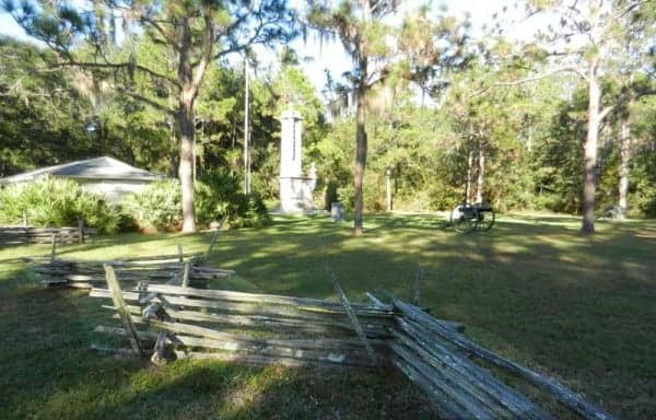Without a Civil War re-enactment, the Olustee Battlefield State Historic Park is a lovely, quiet place.