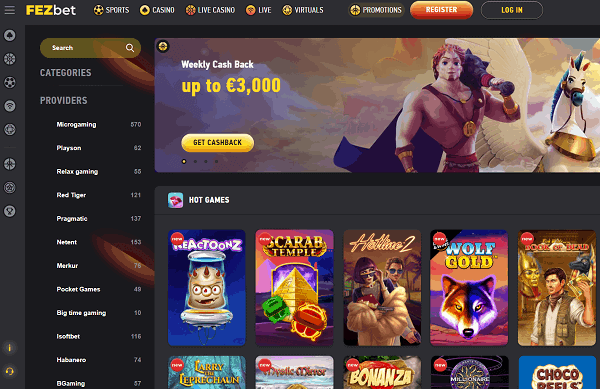 Play the best slots, live games and bet on sports!