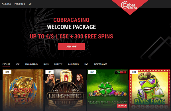 Get 1050 EUR/USD welcome bonus with 300 free spins on video slots!