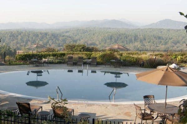 The pool at the inn at the biltmore estate
