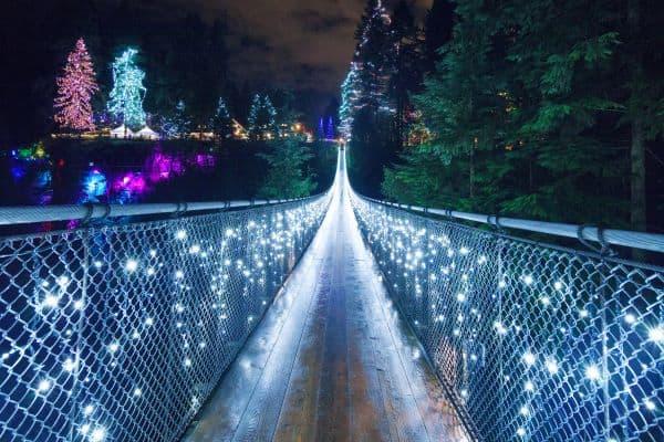 Canyon Lights on Bridge