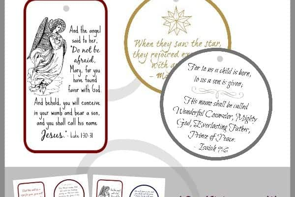 Gift tags with Bible verses to bless your friends and family