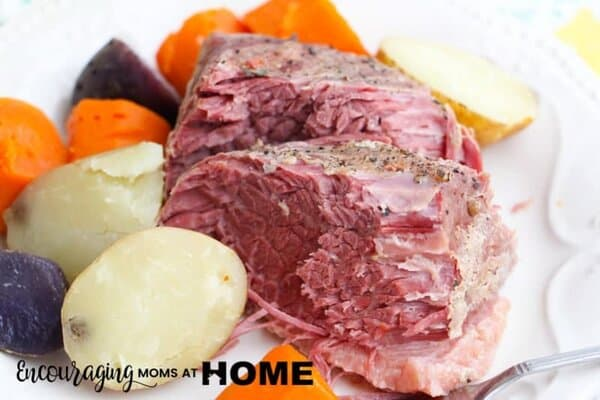 Image: How to cook corned beef in an Instant Pot: The finished dish without cabbage.