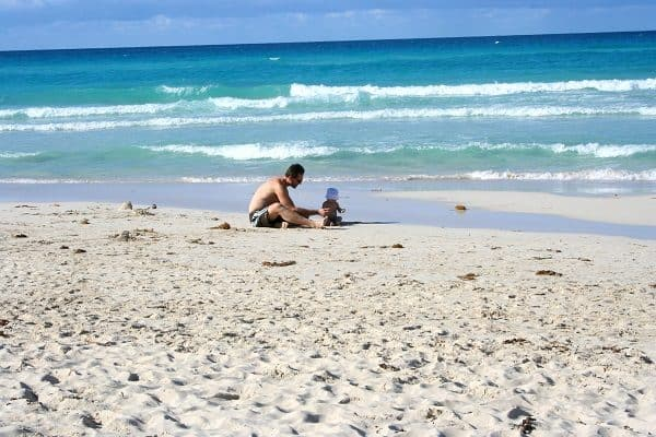 first family vacation, first vacation with baby, cuba with baby, varadero beach with baby