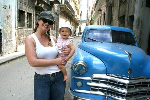 vacations for families with toddlers, First vacation with baby, first family vacation, havana with baby, cuba with baby