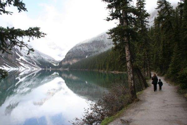 lake louise, lake louise walk, lake louise with baby, lake louise with kids, banff with a toddler, banff with toddlers