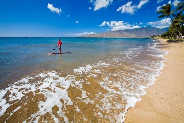 Paddle Surfer on Maui - Image courtesy Hawaii Tourism Authority/Tor Johnson, Family Vacations on Maui