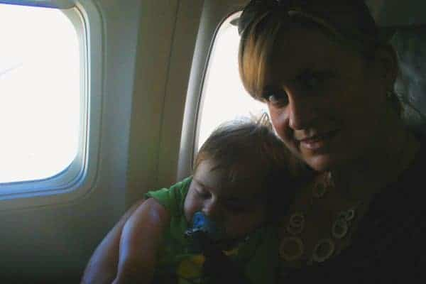 westjet with a baby, westjet with a toddler, flying westjet with a baby