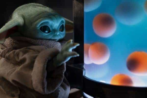 Baby Yoda with the Baby Frog Eggs