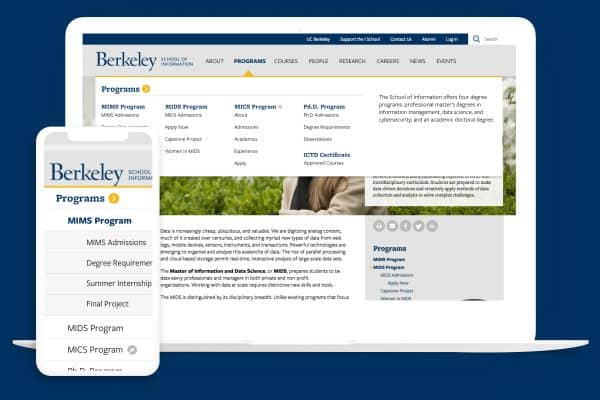 UC Berkeley I School program page