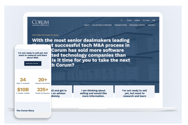 Corum Group Homepage