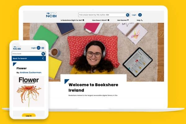 Bookshare Ireland website on several devices