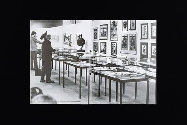 Marcel Broodthaers, installation view of the Musée d'Art Moderne, Département des Aigles, Section des Figures.