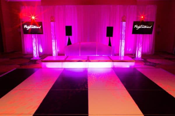 Deluxe DJ Booth with Pro LS, Video Dance Party, & Deluxe Lighted Stages