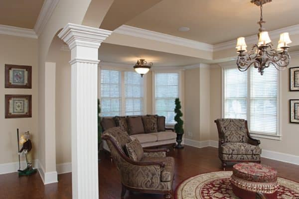 arch into sitting room