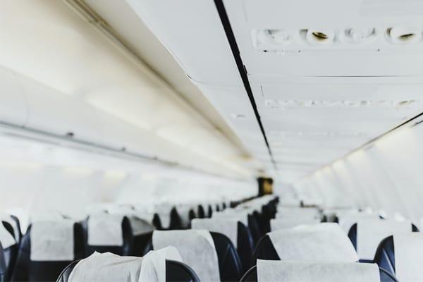 empty aeroplane seats