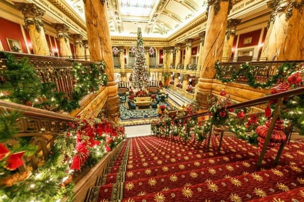 The jefferson hotel decorates in grand style for the christmas holidays