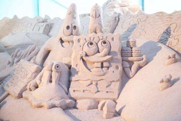 Spongebob and patrick at the sugar sand festival