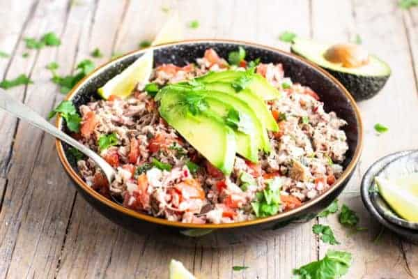The guatamalan beef salad is ideal for an appetizer, with cocktails.