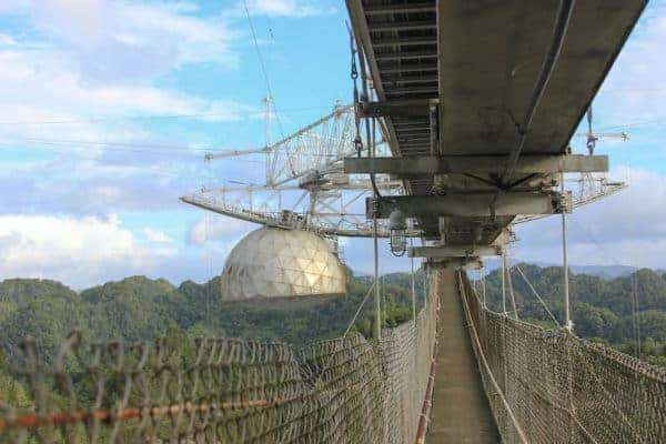 The enormous radio telescope at Arecibo Observatory is a must-see for science fans visiting Puerto RIco.