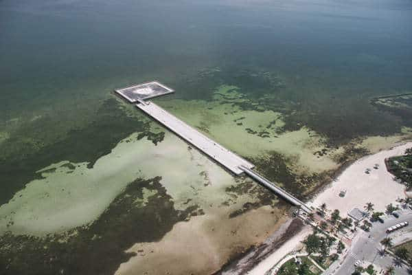 Aerial view of White Street Pier, Key West