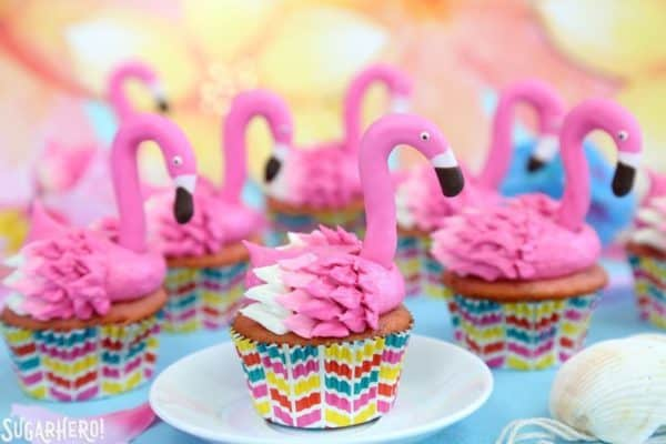Pink Flamingo Cupcakes