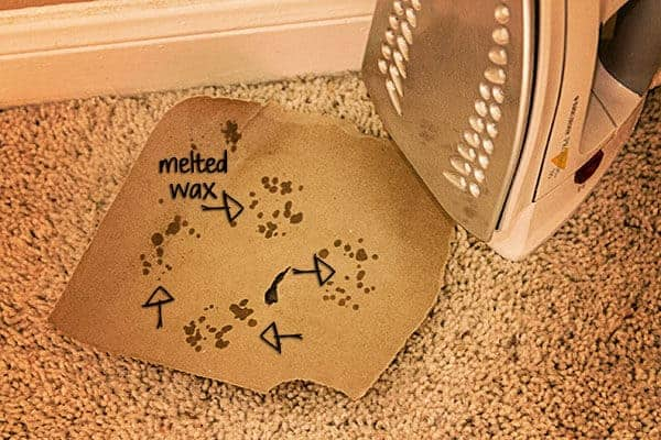 How to get wax out of a carpet using an iron and brown paper