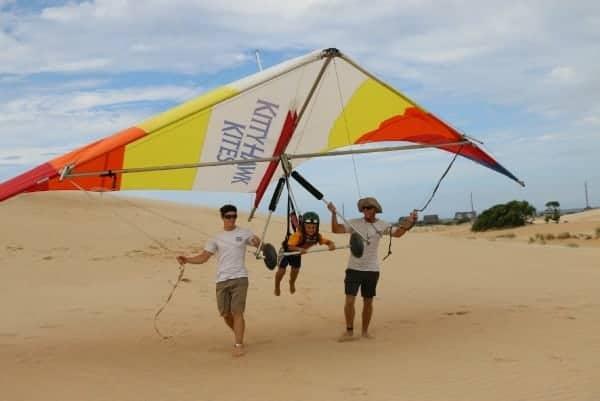 kitty hawk kites, children hang gliding, hang gliding lessons, hang gliding for kids, kitty hawk for kids