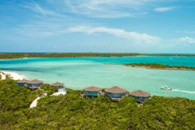 The bahamas is a great place to rent a house because of its clear turquoise waters and calm surf