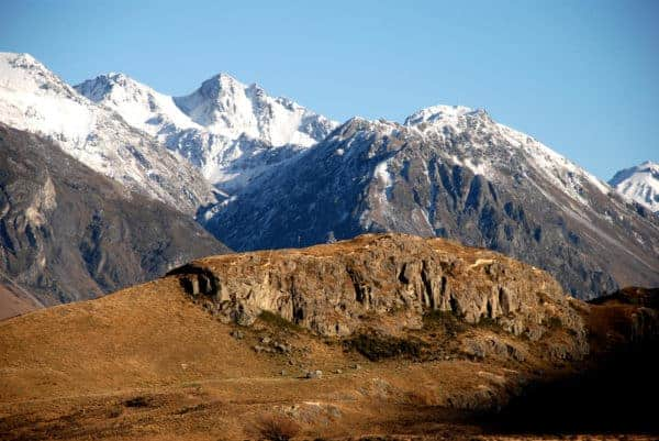 The mountains are one of many new zealand locations you travel through during the lotr movies.