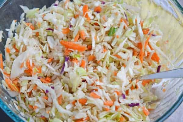 This maryland cole slaw has vinegar instead of mayonaise, better for summer barbecues.