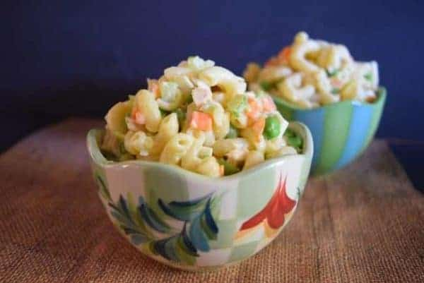 Hawaiian macaroni salad turns any barbecue into a plate lunch.