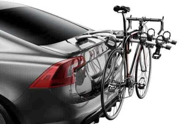 Thule makes bicycle racks that attach to your trunk or hatchback and fit 2, 3, or 4 bikes