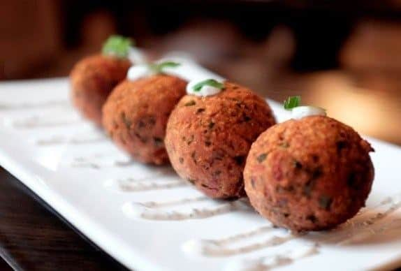 Carror falafel are a good vegetarian option at milad cafe