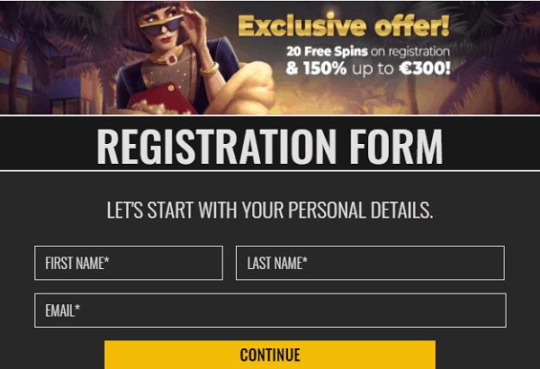 Exclusive Welcome Offer: 5 EUR or 50 Free Spins