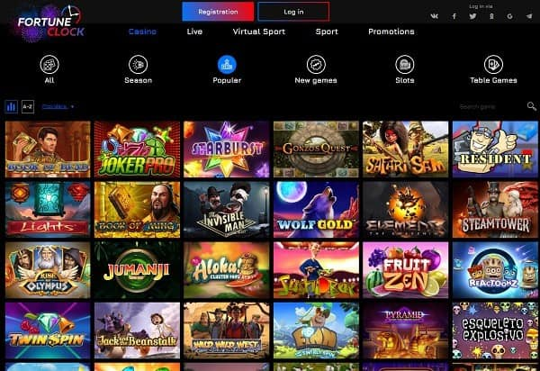 Fortune Clock Online Casino Review